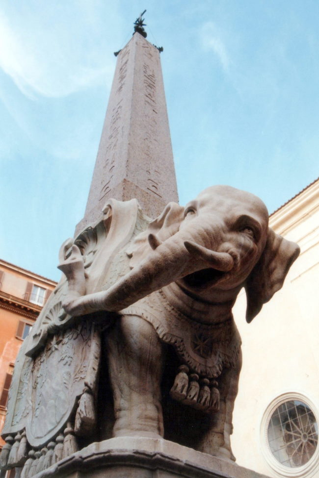 Elephant and Obelisk