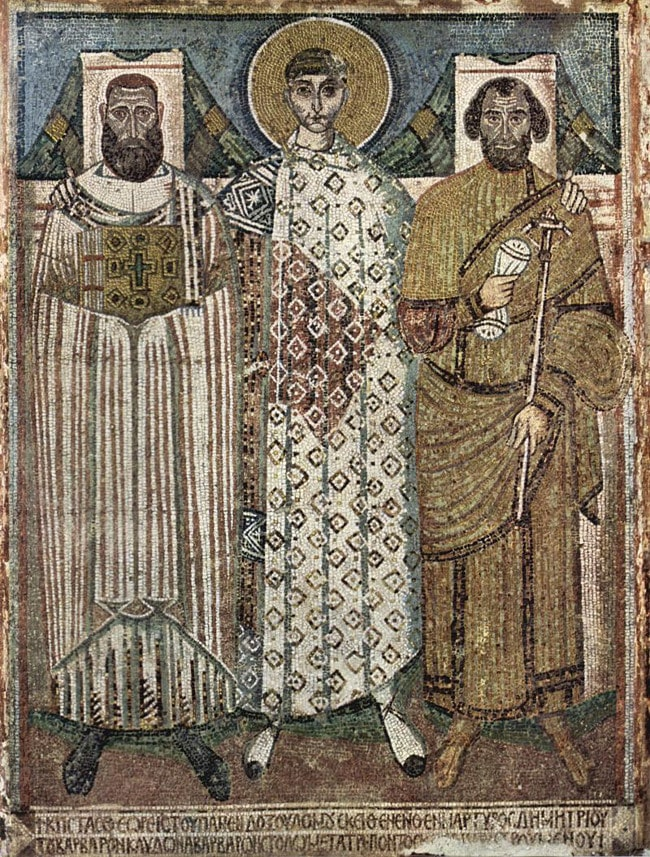 Mosaic of St Demetrius with the Founders
