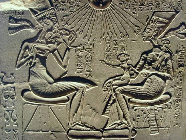 Relief of Akhenaten and Nefertiti
