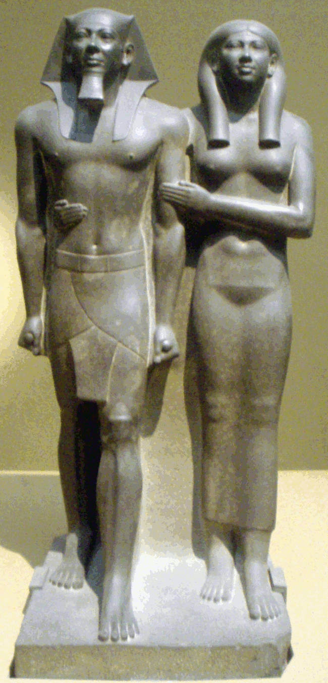 Statue of Menkaure and Queen